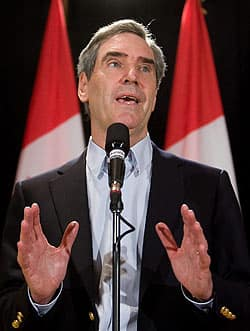 Liberal Leader Michael Ignatieff speaks during his party's summer caucus retreat in Sudbury, Ont.