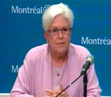 Vision Montreal Leader Louise Harel said her English isn't good enough to participate in this kind of debate.