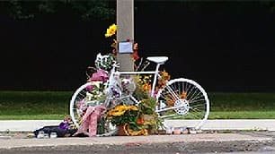Ottawa's first ghost bike is a memorial to Melanie Harris, 34, who died on Sussex Drive on Sept. 16.