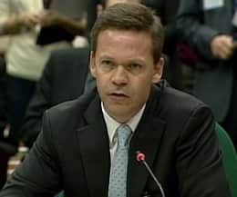 Richard Colvin, a former senior diplomat with Canada's mission in Afghanistan, appears before a House of Commons committee Wednesday in Ottawa.
