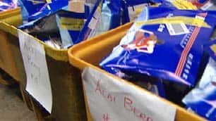 The Vancouver post office houses these bins of seized packages of phoney acai berry purchased online by Canadians.