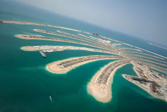 The palm-shaped islands off Dubai are being built and developed by Nakheel Properties, a division of state-owned Dubai World.