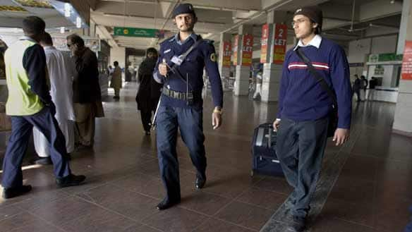 Passengers leaving for the U.S. from the Benazir Bhutto International Airport near Islamabad, Pakistan, now face increased security screening.