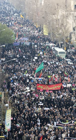 Where crowd emotions run high. A pro-government rally in Tehran in December 2009, directed against opposition protests during the holy day of Ashura. (Reuters)
