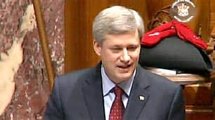 Prime Minister Stephen Harper told the B.C. legislature Thursday that the Olympics were a \