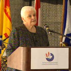 Betty Fox speaks in St. John's Monday, 30 years to the day after Terry Fox launched his run.