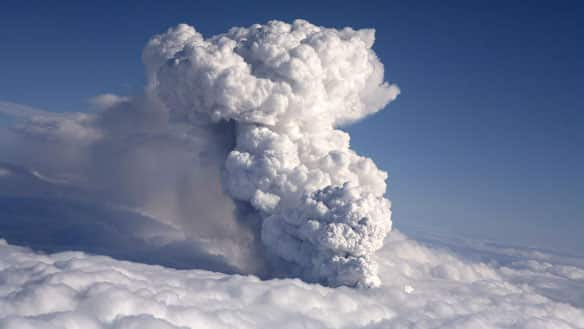 iceland volcano eruption 2010 facts. Smoke billows from a volcano