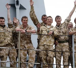 British soldiers return from a tour of duty in Afghanistan on the Royal Navy warship HMS Albion. Allegations have now arisen that the U.K. military was complicit in torture of Afghan prisoners.