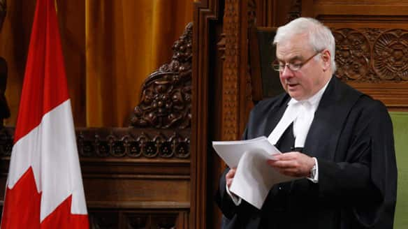 Speaker Peter Milliken delivers his ruling on Tuesday in the House of Commons on Parliament Hill in Ottawa.