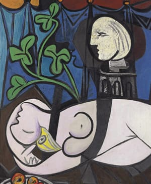 Nude Green Leaves, and Bust, a 1932 painting by Pablo Picasso, sold for more than $100 million US at Christie's auction house.