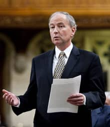 Justice Minister Rob Nicholson announces the agreement on Afghan detaineee documents in the House of Commons on Friday.