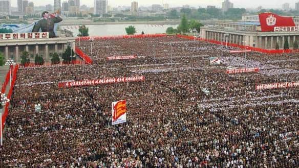 north korean people. the North Korean capital