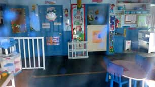 Interior of the daycare centre shut down by the province.