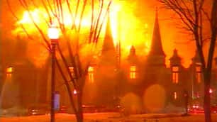 A massive fire in April 2008 destroyed most of the historic building. (CBC)