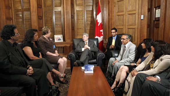Prime Minister Stephen Harper recently met with members of the Air India Victims Families Association in his office on Parliament Hill in Ottawa.