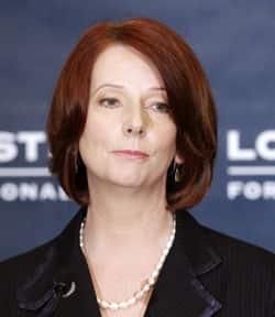 Australian PM Julia Gillard makes a policy announcement regarding asylum seekers. (Photo Courtesy of CBC News.)
