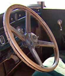 The steering and the motor on the 82-year-old four-door sedan still work. (Tom Taylor/CBC)