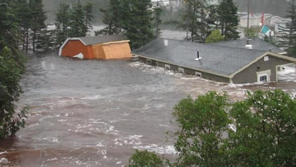 Hurricane Igor brought massive flooding and high winds to many communities in eastern Newfoundland, including the Trinity Bay community of Trouty.