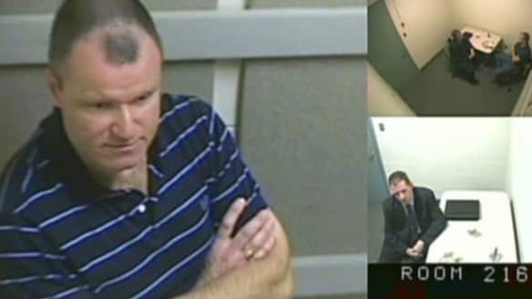 Russell Williams, in an image taken during his interrogation.