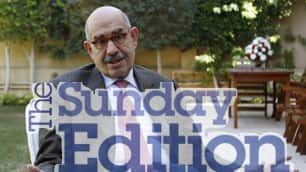 AUDIO: Mohamed ElBaradei on the movement for change in Egypt. Interview with Michael Enright from The Sunday Edition Apr. 11, 2010. (9:10) (photo: Asmaa Waguih/Reuters)