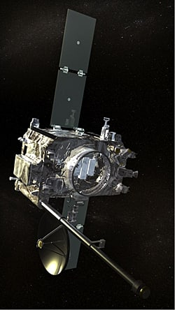 One of the two STEREO spacecraft is shown here in an artist's conception. They were launched in 2006.