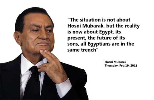 Mubarak offered little more in his speech Thursday than vague promises to deligate power to his newly appointed vice-president, make some constitutional changes and lift the country's hated state-of-emergency law some time in the future.