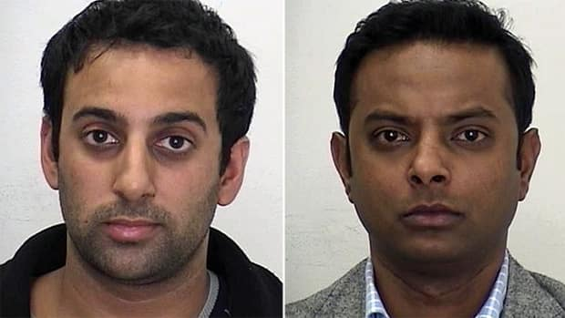 Amitabh Chauhan, left, and Suganthan Kayilasanathan are charged with gang sexual assault and administering a noxious substance.