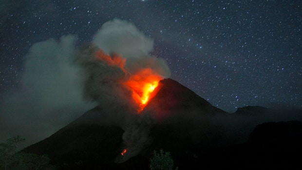 Mount Merapi, Indonesia's most active volcano, erupted most recently in late October and early November 2010. Volcanic eruptions are often preceded by persistent earthquakes called volcanic tremors.