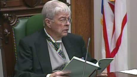 Lt.-Gov John Crosbie reads Monday's speech from the throne.