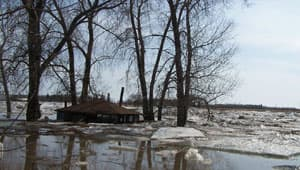 An ice jam in Riverton, Man., forced the evacuation of 85 people from their homes in April 2009.