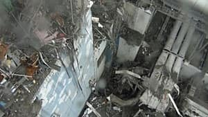 An overview shows the damage in the interior of reactor Unit 4 at the Fukushima Daiichi nuclear power plant complex in this still image taken from a March 24 handout video released to Reuters on April 1.