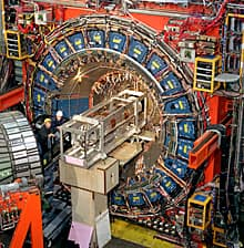 Evidence pointing to a new particle was discovered using the Collider Detector at Fermilab detector shown above.
