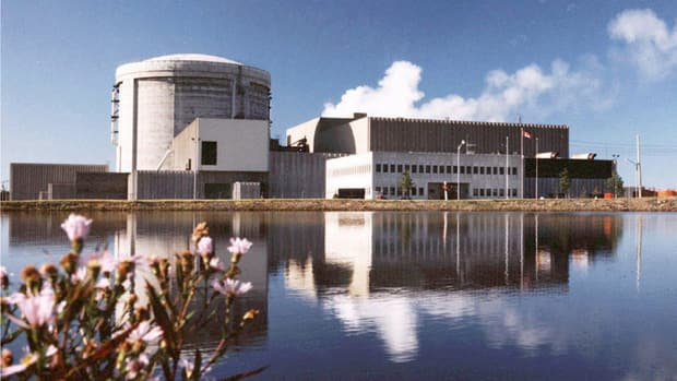 The Point Lepreau nuclear station in New Brunswick uses the Candu reactor technology, developed by Atomic Energy of Canada Ltd.