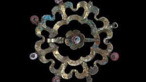 This brooch was among an Austrian treasure trove estimated to be 650 years old.