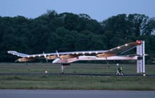 Solar Impulse reached Brussels airport after a 12-hour flight from Switzerland.