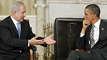 U.S. President Barack Obama meets with Prime Minister Benjamin Netanyahu of Israel in the Oval Office at the White House in Washington, D.C., on May 20, 2011.