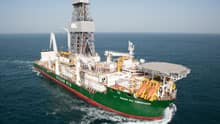 The Ocean Rig Corcovado is one of two drilling vessels Cairn Energy PLC is using to explore for oil and gas off Greenland's western coast this summer. The other vessel is the rig Leiv Eiriksson.