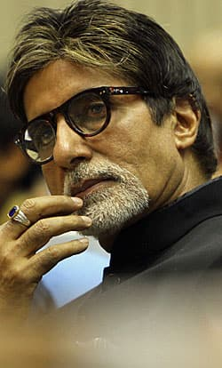 Bollywood actor Amitabh Bachchan attends the 57th National Film Awards ceremony in New Delhi on Oct. 22, 2010. Bachchan received the best actor award for the movie Paa.