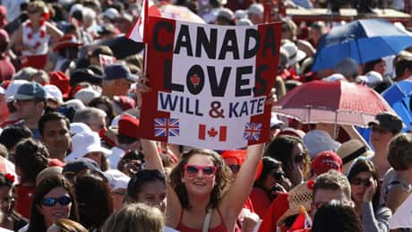 A crowd of thousands started gathering on Parliament Hill as early as 9:30 a.m. Friday in anticipation of the royal couple's afternoon arrival for Canada Day ceremonies.