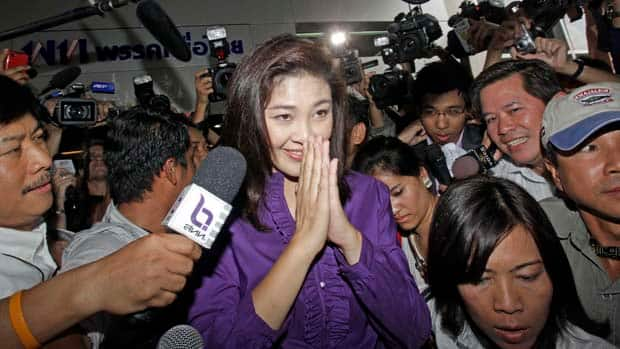 The leader of the opposition Phue Thai party, Yingluck Shinawatra, is poised to become Thailand's next prime minister, according to exit polls.