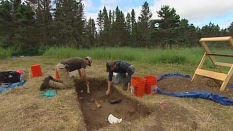 Archeology dig in Manitoba for POW camp remnants. CBC