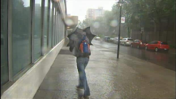 Tropical storm Irene brought high winds and heavy rains to Quebec.