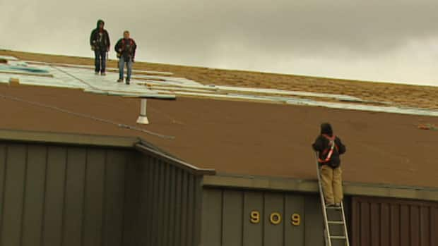 Trees Pool Roof Damaged By Winds Manitoba Cbc News