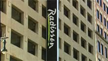 The Radisson Hotel is in the heart of downtown Winnipeg. The new hotel where Air Canada pilots and flight crew will stay, the Sandman Hotel and Suites, is a 10-minute drive from downtown.