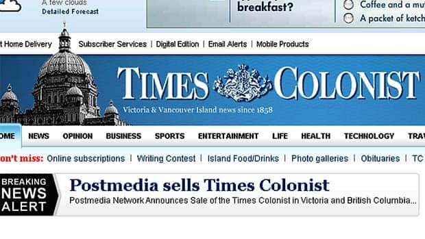The Victoria Times-Colonist was founded in 1858.
