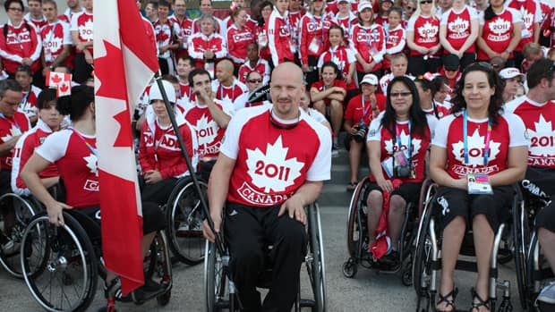 Dave Durepos, who was Team Canada's flagbearer at the opening ceremonies of the Parapan American Games in Mexico last November, scored seven points in opening round play at the Paralympic Games in London Thursday.