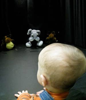 A UBC-led study shows that babies as young as eight months old want to see bad puppets punished for anti-social behaviour.