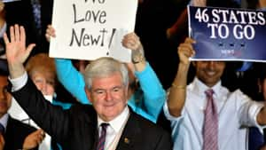 U.S. Republican presidential candidate Newt Gingrich insists he will be the nominee when Republicans next gather in Florida for the August national convention.