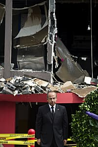 After the Zetas drug cartel fire-bombed the Casino Royale in Monterrey, killing 52 people, Mexican President Felipe Calderon, pictured, denounced the unrelenting U.S. demand for drugs.