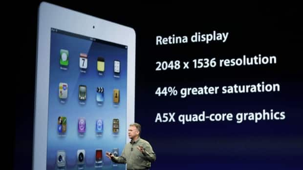 Phil Schiller, Apple's senior vice-president of worldwide marketing, speaks about the new iPad during the launch of the new version of the tablet device in San Francisco on March 7, 2012.